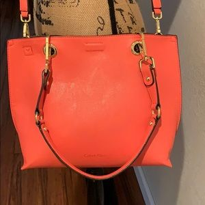 Calvin Klein tote bag with a cosmetic bag